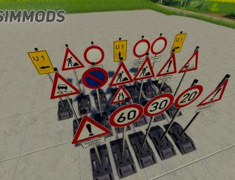 LS19: Straßenschilder Pack – DOWNLOAD