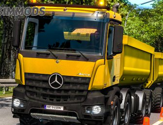 ETS 2: Mercedes Benz Arocs mit Anhänger – DOWNLOAD