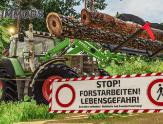 LS19: Forst-Absperrbanner – DOWNLOAD